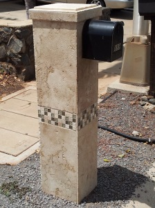 Custom Travertine Mailbox