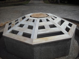 "This Fountain was made from Quartzite, and designed specifically as the symbol of ""feng shui""."